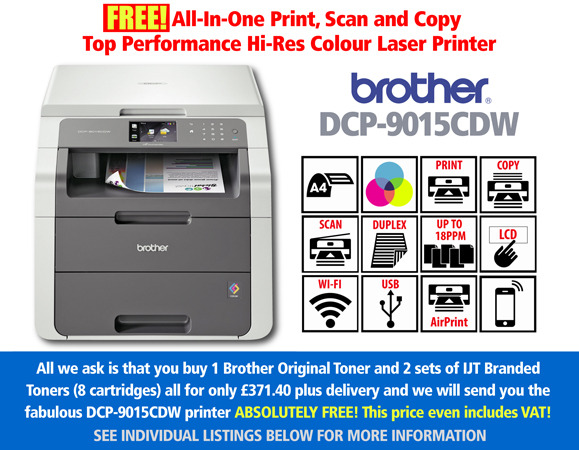 Free Brother DCP-9015CDW Printer Deal: With 3 Full Sets of Toner
