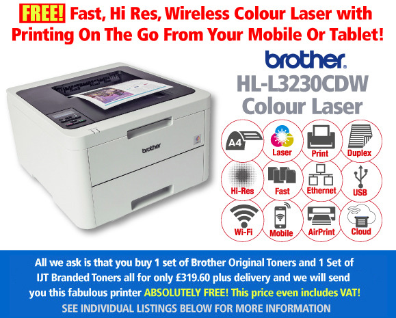 Brother HL-L3230CDW Printer Deal: With 2 Sets of toner